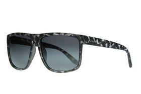 "Lentes & Marcos ""Goya"" Polarised Grey Tortoise-Shell Flat-Top Sunglasses"