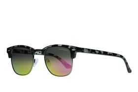 """Lentes & Marcos """"Alsacia"""" UV400 Grey Tortoise-Shell Clubmaster Sunglasses"""