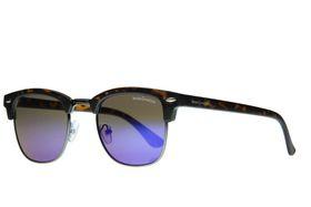 """Lentes & Marcos """"Alsacia"""" UV400 Tortoise-Shell Clubmaster Sunglasses"""