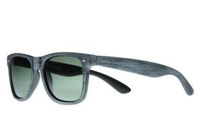 "Lentes & Marcos ""Puente de Vallecas"" Polarised Grey Wood Wayfarer Sunglasses"