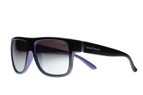 """Lentes & Marcos """"Mar de Cristal"""" UV400 Black Flat-Top Mirrored Sunglasses"""