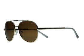 "Lentes & Marcos ""Acacias"" Polarised Gold Aviator Sunglasses"