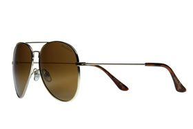 "Lentes & Marcos ""Universitaria"" UV400 Gold Aviator Sunglasses"