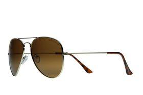 """Lentes & Marcos """"Ventura Rodriguez"""" Polarised Gold Aviator Sunglasses"""