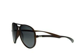 "Lentes & Marcos ""Lucero"" Polarised Amber Aviator Sunglasses"