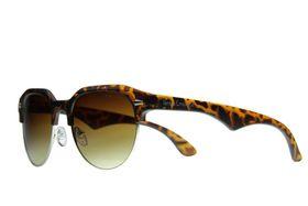 "Lentes & Marcos ""Sol"" UV400 Black Clubmaster Sunglasses"