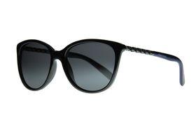 "Lentes & Marcos ""Arturo Soria"" Polarised Navy & Silver Cat-Eye Sunglasses"