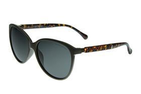 "Lentes & Marcos ""Bilbao"" Polarised Black Oversized Sunglasses"