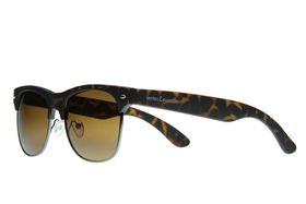 "Lentes & Marcos ""Manuel Becerra"" Polarised Tortoise-Shell Clubmaster Sunglasses"