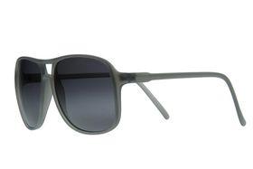 """Lentes & Marcos """"Delicias"""" UV400 Grey Aviator Sunglasses"""