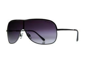 "Lentes & Marcos ""Aluche"" UV400 Silver Shield Sunglasses"