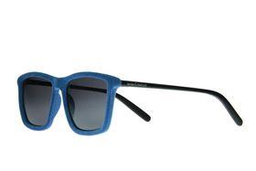 """Lentes & Marcos """"Embajadores"""" UV400 Black & Olive Flat-Top Sunglasses"""