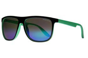 "Lentes & Marcos ""Alonso Martinez"" Black Flat-Top Mirrored Sunglasses"