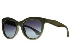 "Lentes & Marcos ""Avenida de la Paz"" Polarised Olive Cat-Eye Sunglasses"