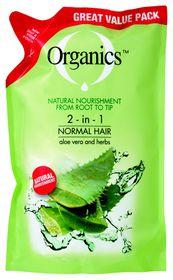 Organics Normal 2-In-1 Refill - 900ml