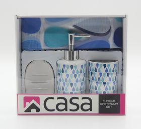 Casa - Peva and Ceramic Gift Set - Blue Drops