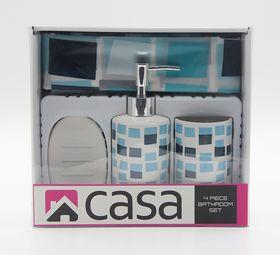 Casa - Peva and Ceramic Gift Set - Blue Mosaic