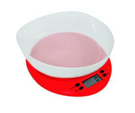 Pure Pleasure - Plastic Kitchen Scale With Red Base and Bowl