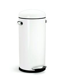 SimpleHuman - 30 Litre Retro - White