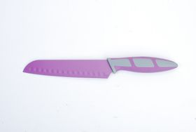 Kitchen Dao - RV2224 6.5 Inch Non-Stick Santoku Knife - Purple