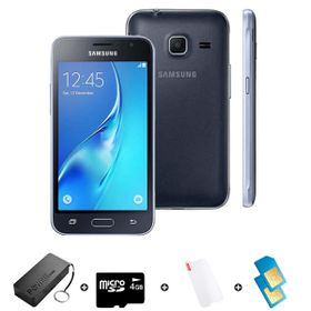 Samsung GALAXY J1 Mini DS 2016 8GB LTE Black - Bundle with R1000 Airtime + 1.2GB Starter Pack + Accessories