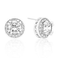 Miss Jewels 3.42ctw Cubic Zirconia Round Stud Earrings