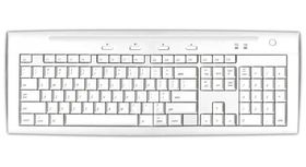 MACALLY Hi-Speed USB 2.0 Slim Keyboard (2 USB Ports) - White