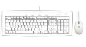 MACALLY USB 2.0 Slim Keyboard & Optical Game Mouse Combo - White