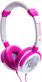Idance Pink and White Headphone