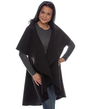 Kiss Clothing Circle Coat - Black