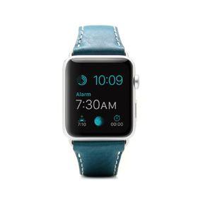 SLG Design D6 Italian Minerva Box Leather Strap for Apple Watch 42mm  -  Blue