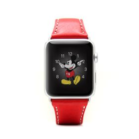 SLG Design D6 Italian Minerva Box Leather Strap for Apple Watch 42mm -  Red