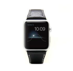 SLG Design D6 Italian Minerva Box Leather Strap for Apple Watch 42mm  -  Black