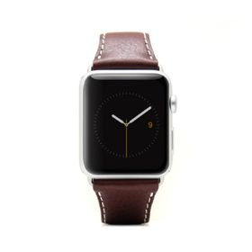 SLG Design D6 Italian Minerva Box Leather Strap for Apple Watch 38mm  -  Brown