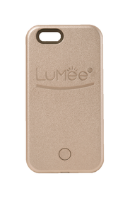 LuMee Lighted Cell Phone Case for iPhone 5/5s/SE  -  Rose Gold