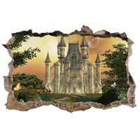 Hole In The Wall Enchanted Castle Wallpaper Mural