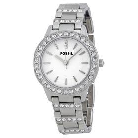 Fossil Women's ES2362 Stainless Steel Bracelet Silver Glitz Analog Dial Watch (Parallel Import)