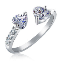 Treasures Gorgeous Double Heart Filled Ring