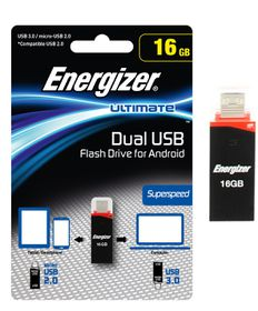 Energizer 16GB Dual USB Flash Drive/OTG