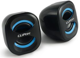 Cliptec 6W 'Compact-Wave' 2.0 USB Multimedia Speaker - Black & Blue