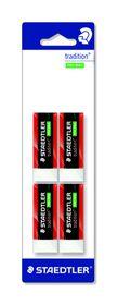 Staedtler Tradition 4 Pack Erasers