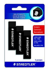 Staedtler Black 3 Pack Erasers
