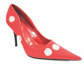 Lavanda Pointy High Heel Court - Red (AK2626-1N)