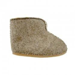 John Buck Unisex Sheepskin Slippers - Wool Coloured