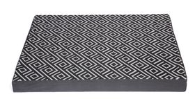 Wagworld - Extra-Large Lazy Lounger Dog Bed - Geo Charcoal & Grey
