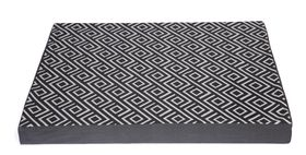 Wagworld - Lazy Lounger Dog Bed - Geo Charcoal & Grey