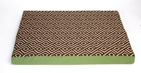 Wagworld - Lazy Lounger Dog Bed - Geo Camel & Green