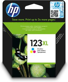 HP 123XL High Yield Tri-Colour Ink Cartridge