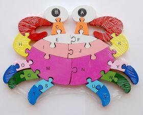 Wooden Puzzle - Crab