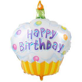 Happy Birthday Cupcake shaped Foil Balloon